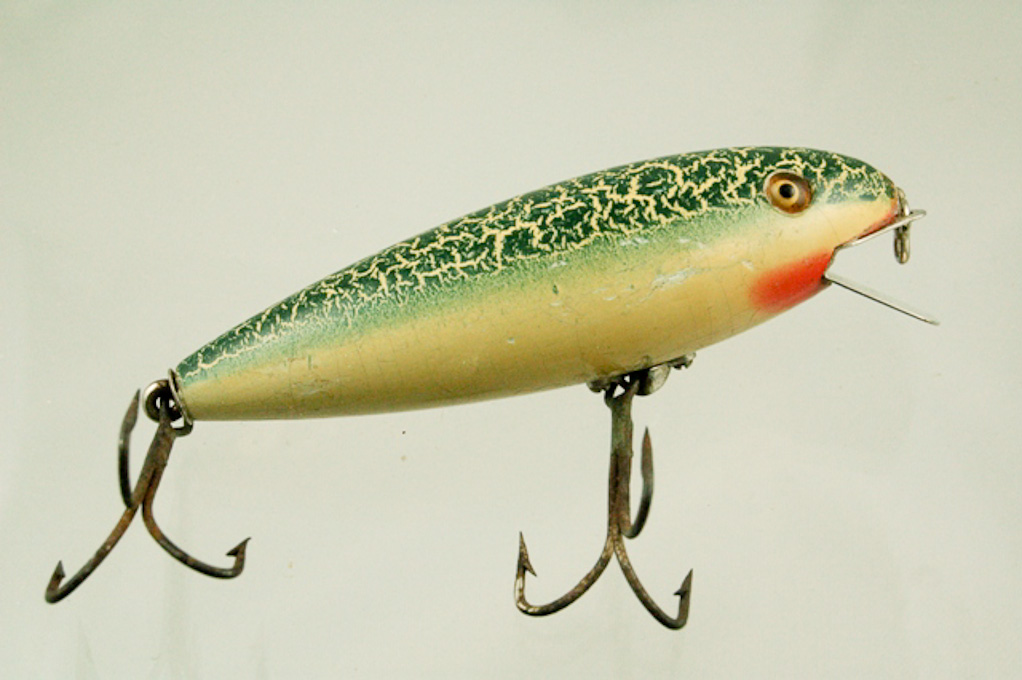 Pflueger o boy lure fin and flame antique lures for Collectible fishing lures