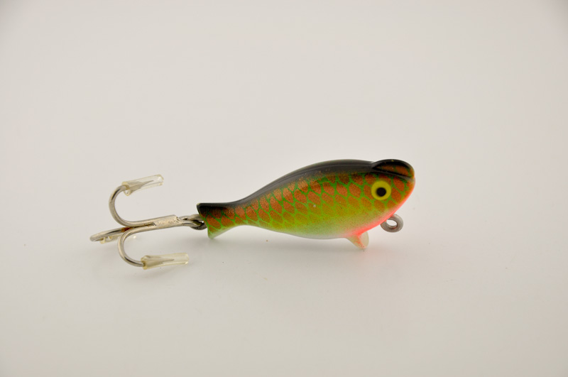 Heddon top sonic lure fin and flame antique lures for Heddon antique fishing lures