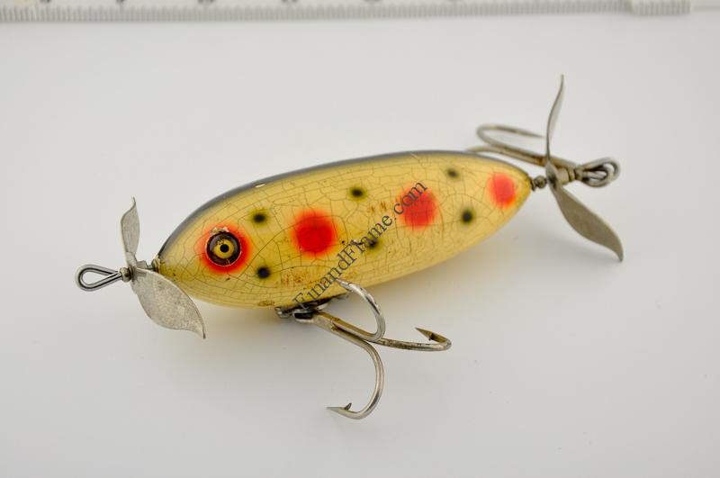 Heddon lures archives antique lure blog fin and flame for Heddon antique fishing lures