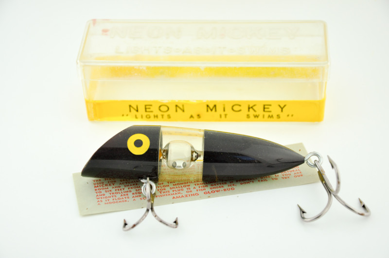 Neon Mickey Antique Fishing Lure