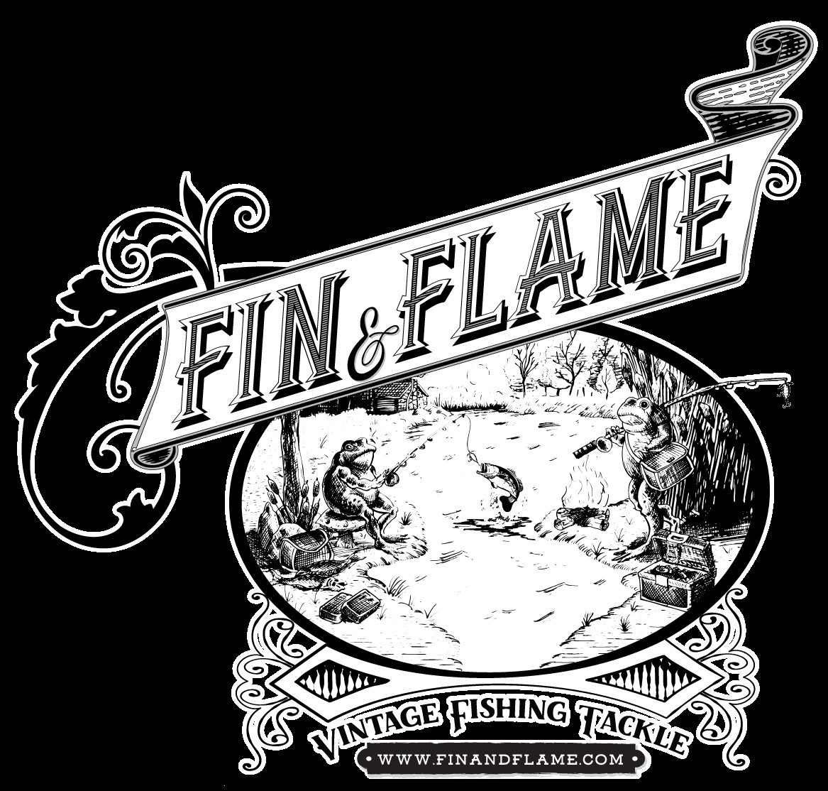 Fin and Flame Antique Lures Mobile Retina Logo