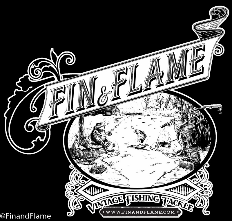 Fin and Flame Antique Lures Sticky Logo