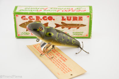 Frog Spot Creek Chub Jigger Antique Lure