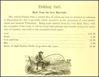 Antique Fishing Attire 1875