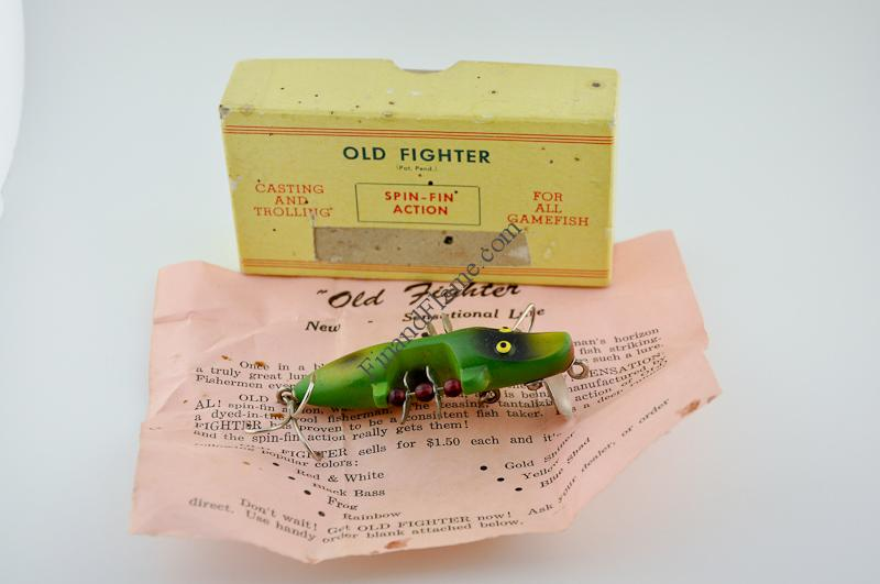 Old fighter lure fin and flame fishing for history for Fishing lure companies