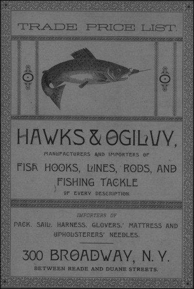 Hawks Ogilvy 1889 Fishing Tackle Catalog