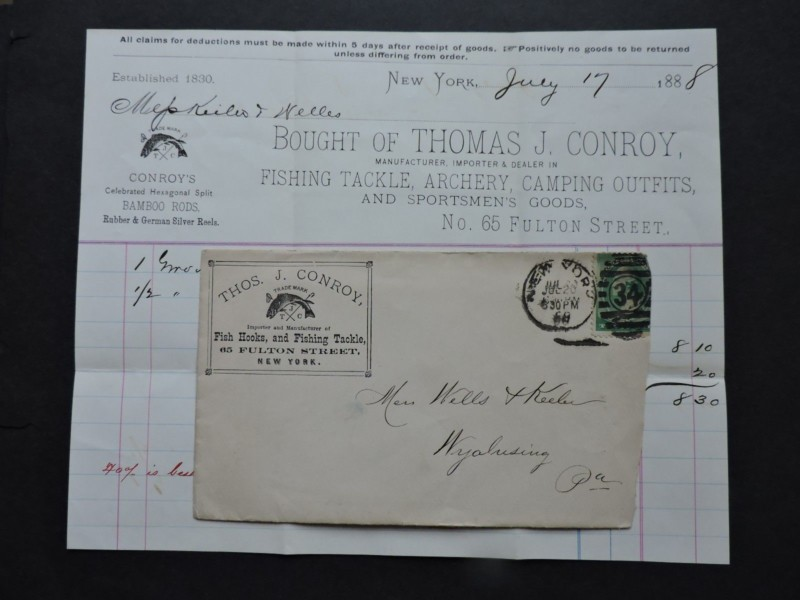 1888 Thomas Conroy Billhead