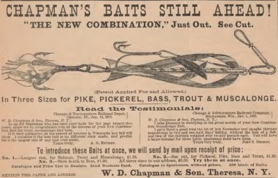 Chapman Combination Minnow Lure Ad