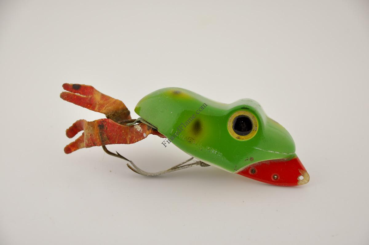 Shurebite frog lure fin and flame fishing for history for Frogs for fishing