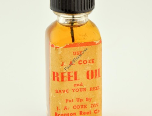 J.A Coxe Reel Oil Bottle