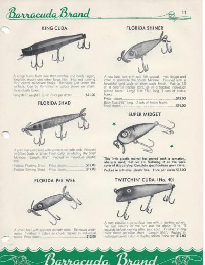 Barracuda Brand Antique Lure Line Up
