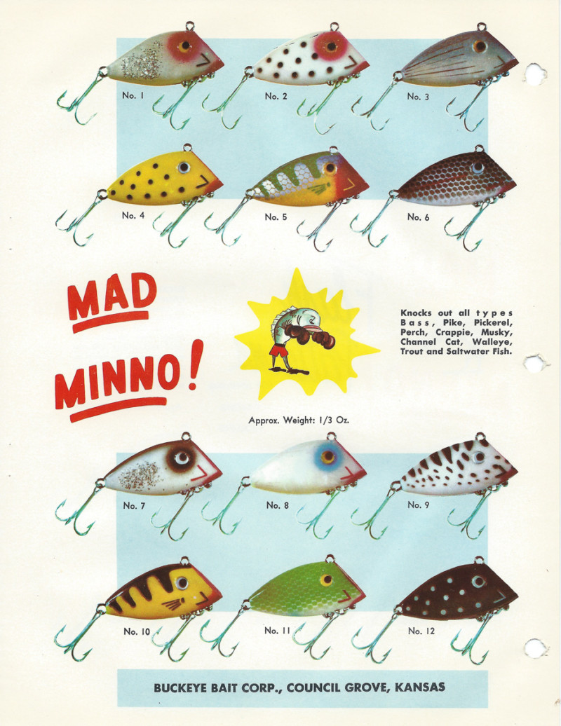 Buckeye Bait Mad Minno Lure Color Guide